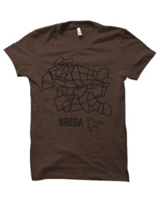 Tshirt-kaart_Breda_bruin_1